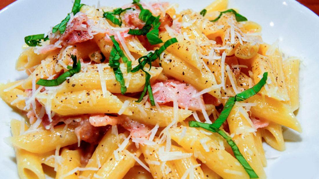 Recept Pasta Carbonara met Champignons