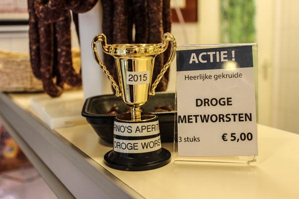 Winnaar van de Aperitief Droge Worst Wedstrijd!